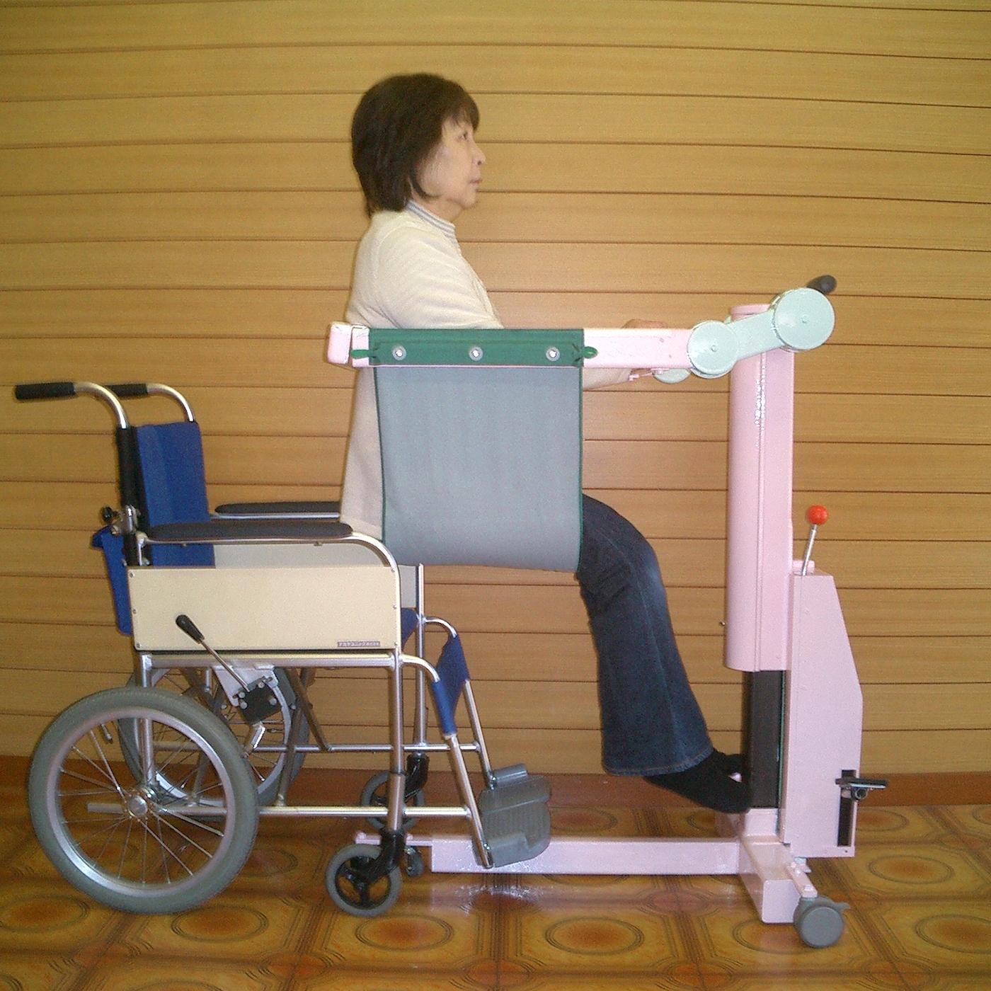 車椅子長座位移乗